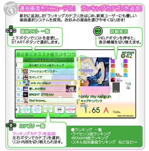 GITADORA システムアップデートにより『ランキングカテゴリ』『選曲画面リニューアル』などが実装!