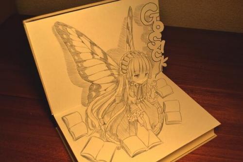 【GOSICK-ゴシック-】漫画家が描いた立体に見えるヴィクトリカイラストが凄い!!
