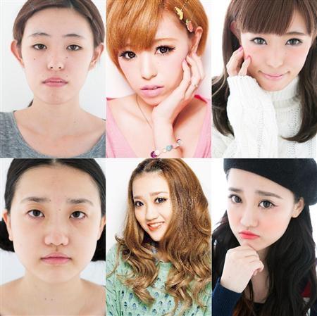 【画像あり】女性の顔、すっぴんと化粧後で別人に 整形越えメイク、実演イベント