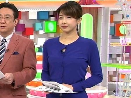 加藤綾子アナのEカップ巨●キャプ!『めざましテレビ』GIF動画あり