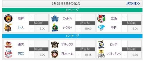 3/28開幕戦カードwwwww(鷹vs鴎)