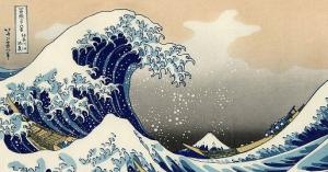 【画像】葛飾北斎の『神奈川沖浪裏』が、クッキーモンスターだった件