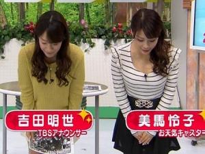 【朝ズバ】美馬怜子の胸の谷間チラリというより出ずっぱりーww【GIF動画あり】