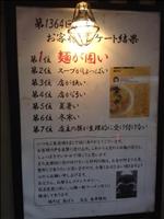 【悲報】池袋のラーメン屋がお客様にアンケートをとった結果・・・ (画像)
