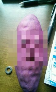 妹が美術の授業で作ったサツマイモの模型が常軌を逸しているwwww なぜこれを作ったww