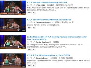 """【動画】アメリカのニュース番組司会者、地震発生に""""目を丸くして""""驚く"""