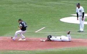 【野球】一塁へは駆け抜けるよりヘッスラした方が早い