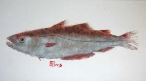 カリブ海の島に住む芸術家、日本の魚拓を用いて芸術作品を制作