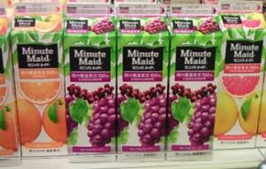 コカコーラの『ミニッツメイド』ザクロ・ブルーベリーに、実はリンゴ・ブドウ果汁のほうが多く入ってることが判明!「消費者を欺いてる!」と訴えられる