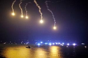 【韓国船沈没事故】夜間捜索に使用していた照明弾が山に落下し山火事に・・・