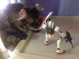 進撃の猫とガンダム