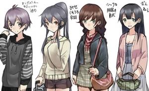 【艦これ】おまいら艦娘姉妹たちのどのポジションにいたい?