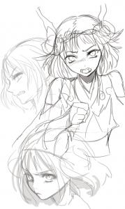 【Z/X】堀愛里先生がテレ顔の緑の竜の巫女 クシュルを描く