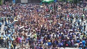 【画像】渋谷の集団、日本が負けて喜ぶ
